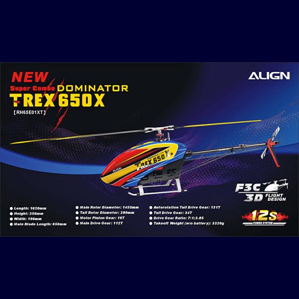 Align Trex 650X Super Combo RH65E01X