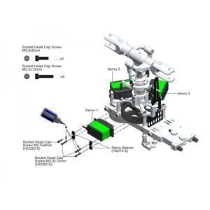 SAB DIN 12.9 Socket Head Cap M2,5x8 (5pcs) - Goblin 500/570/630/700/770 HC020-S