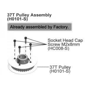 SAB DIN 12.9 Socket Head Cap M2x8 (5pcs) - Goblin 500/570/630/700/770 [HC008-S]