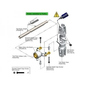 SAB DIN 12.9 Socket Head Cap M2x12 (5pcs) - Goblin 500/570/630/700/770 [HC014-S]