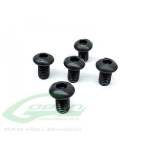 SAB DIN 12.9 Button Head Socket Cap M6x10 (5pcs) - Goblin 500/570/630/700/770 [HC122-S]