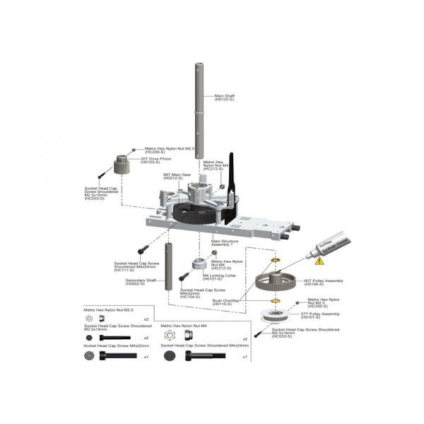 SAB Metric Hex Locknut Nuts M4 H5(10pcs) - Goblin 500/570/630/700/770 HC212-S