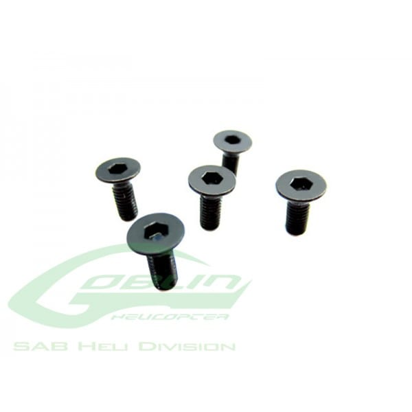 SAB DIN 12.9 Flat Head Socket Cap M4x6 - Goblin 570 [HC351-S]