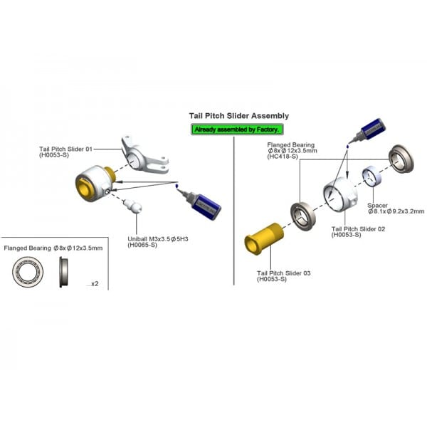 SAB ABEC-5 Flanged bearing HC418-S