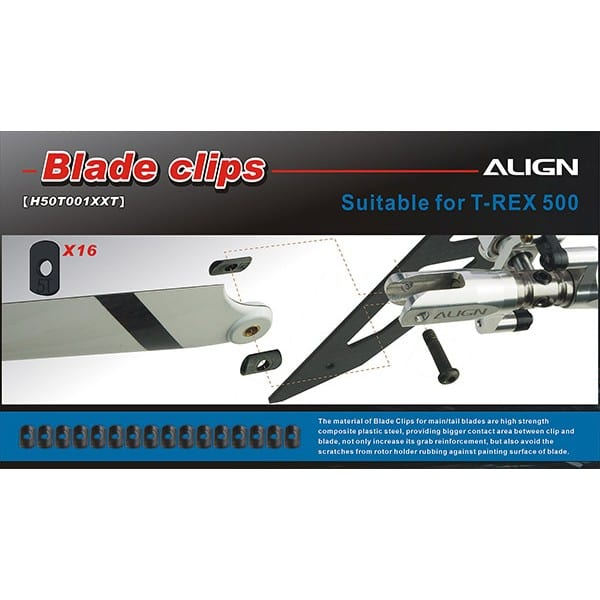 Align Trex 500E H50T001XX 500 Tail Blade Clips