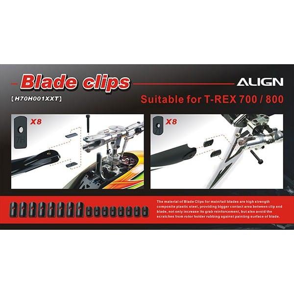 Align Trex 700-800 H70H001XX Blade Clips