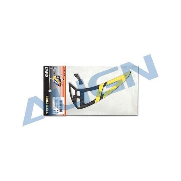 Align Trex 700E H70T006XX PRO Carbon Vertical Stabilizer-Yellow