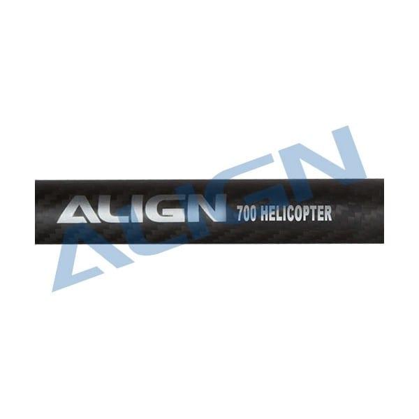 Align Trex 700 H70T005XX Carbon Fiber Tail Boom-Matte Black