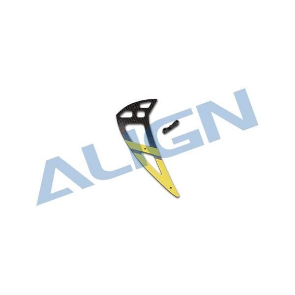 Align Trex 550L H55T003XX Carbon Vertical Stabilizer-Yellow
