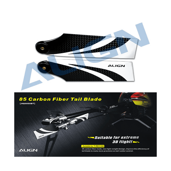 Align Trex 550E HQ0850B 85 Carbon Fiber Tail Blade