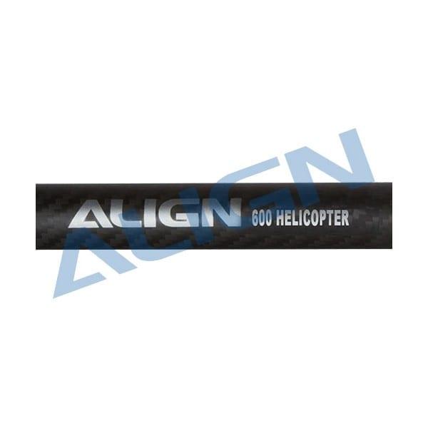 Align Trex 600 H60T003XX Carbon Fiber Tail Boom-Matte Black