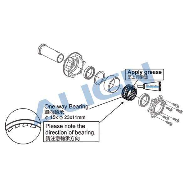 Align Trex 700 One way Bearing FE-423Z H7NG004XX