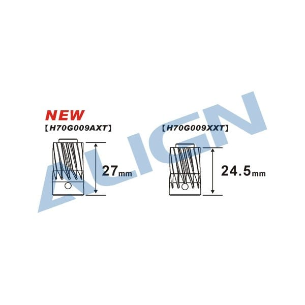 Align Trex 700E/800E Motor Slant Thread Pinion Gear 13T H70G009AX
