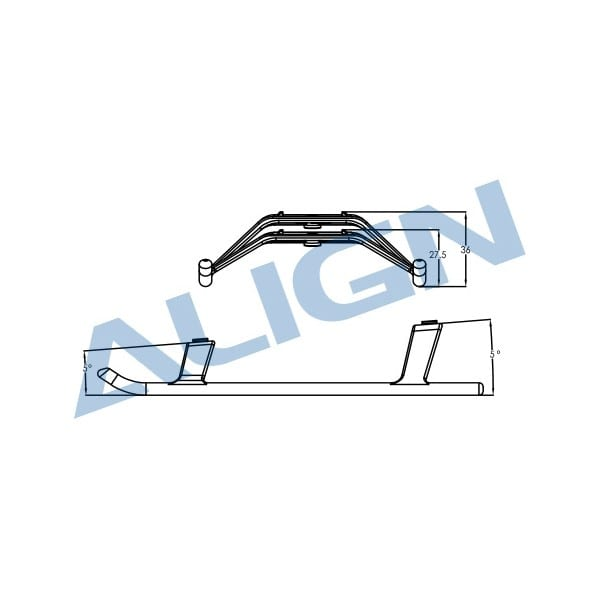 Align Trex 470L Landing Skid - White H47F001XX