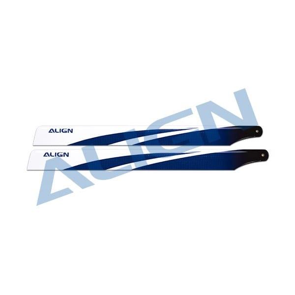 Align Trex 470L 380 Carbon Fiber Blades- Blue HD380B