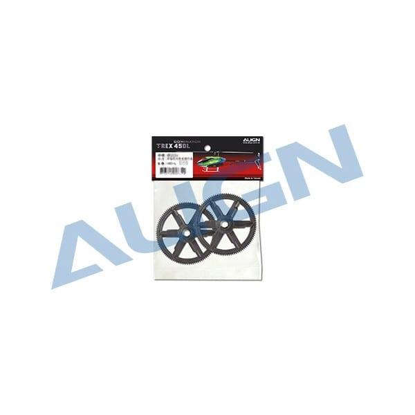 Align Trex 450 104T M0.6 Autorotation Tail Drive Gear Set H45G005XX