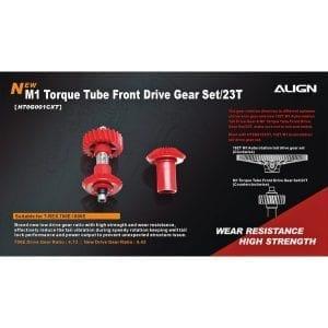 Align Trex 700E/800E M1 Torque Tube Front Drive Gear Set /23T H70G001NX (No Spacer)