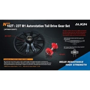 Align Trex 700X/700E 102T M1 Helical Autorotation Tail Drive Gear Set H70G012XX