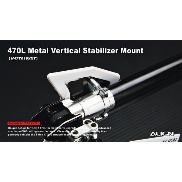 Align Trex 470L Metal Vertical Stabilizer Bearing Block H47T019XX