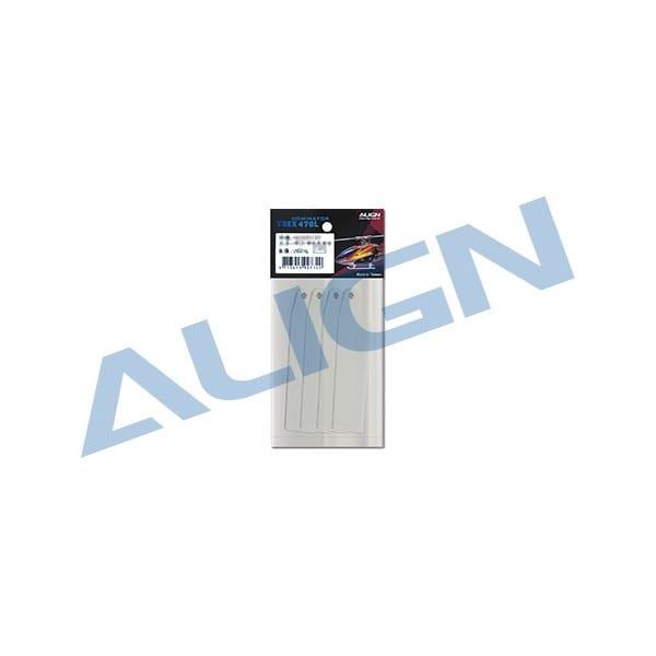 Align Trex 470L (74) Tail Blade- White HQ0743D