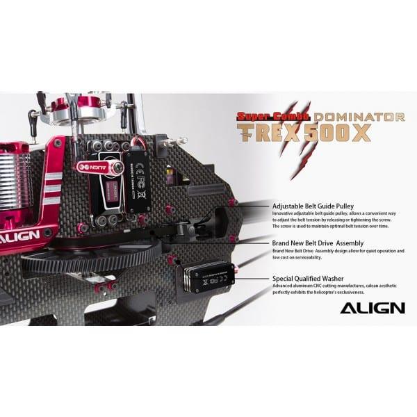 Align Trex 500X Super Combo (Metal Case Servos) RH50E17X