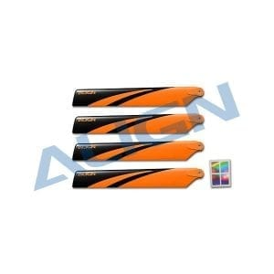 Align Trex 150 Main Blade -Orange and Black HD123EB