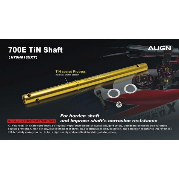 Align Trex 700E/ 700X/760X TiN Shaft H70H016XX