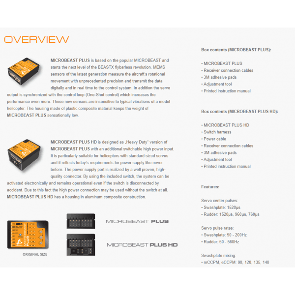 BeastX Microbeast Plus BXM76400 (Heli V5 1.3 BASIC)