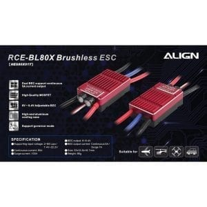Align Trex 500X / 500L RCE-BL80X Brushless ESC HES80X01