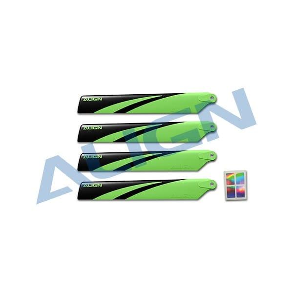 Align Trex 150 Main Blade -Green and Black HD123CB