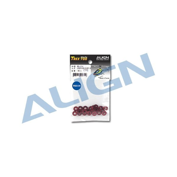 Align Trex 700XN M3 Special Washer- Red H7NZ001XR