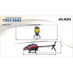 Align Trex RTF Dominator Super Combo RH30E01X /with A10 Radio Controller