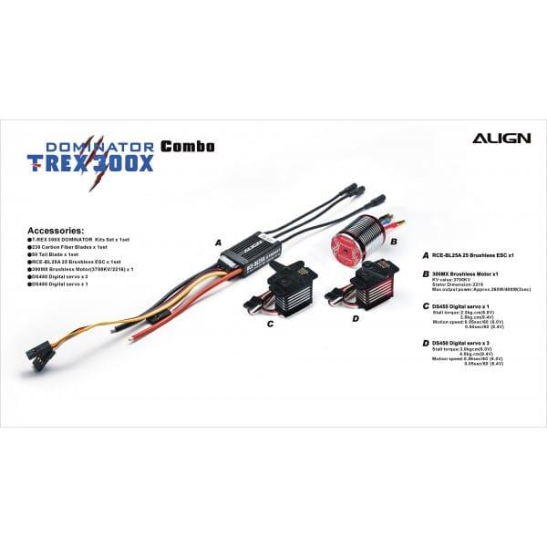 Align Trex 300X Dominator Combo RH30E02X