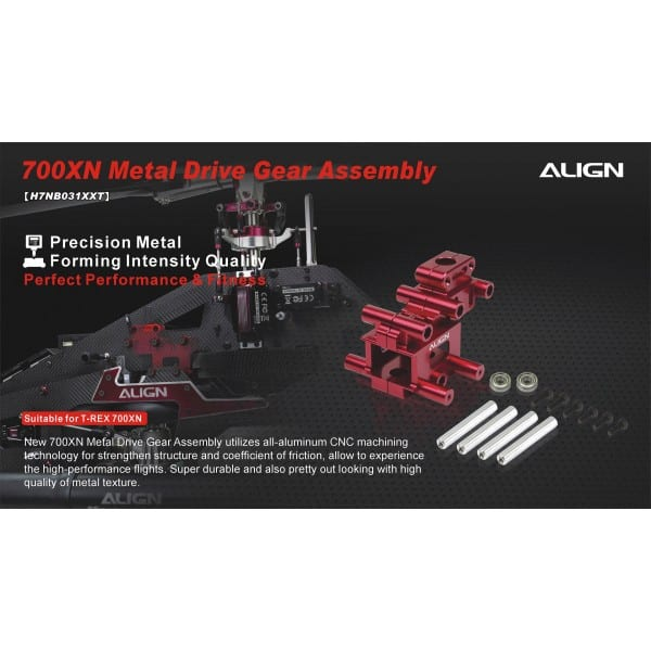 Align Trex 700XN (Only) Metal Drive Gear Assembly H7NB031XX