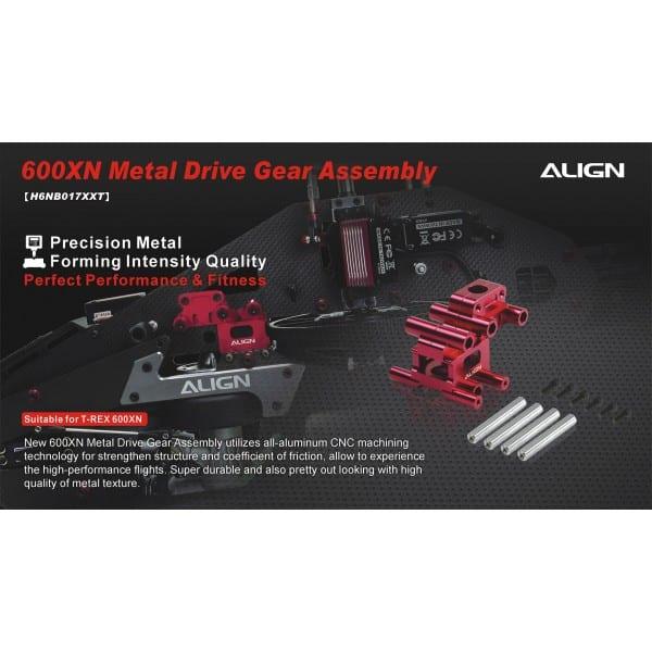Align Trex 600XN Metal Drive Gear Assembly H6NB017XX