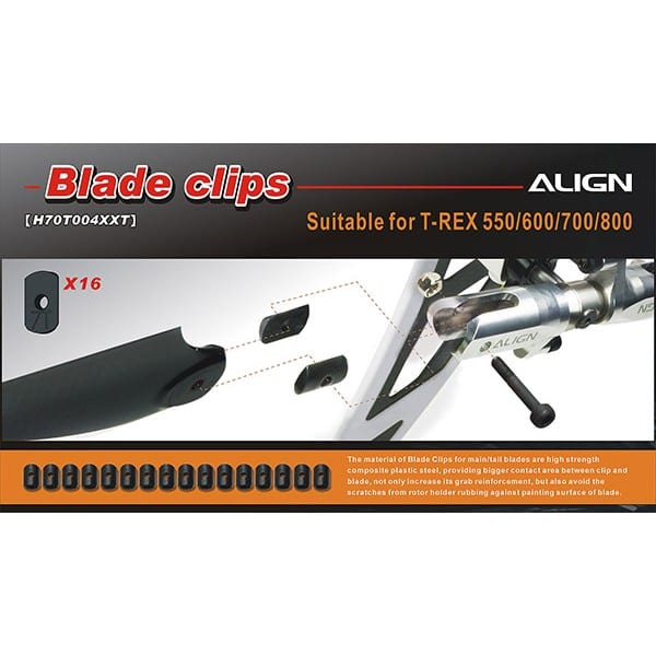 Align 550-800 H70T004XX Tail Blade Clips