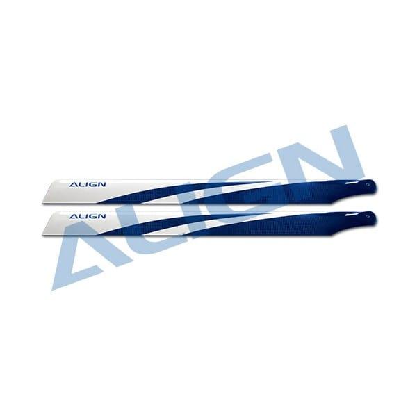 Align Trex 500E HD420G 425 Carbon Fiber Blades-Blue