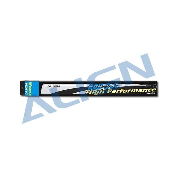 Align Trex HD600E 3G Carbon Fiber Blades